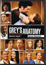 GREY'S ANATOMY STAGIONE 5 - COFANETTO 7 DVD NUOVO!