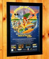 Walt Disney World Quest Magical Racing Tour PS1 Dreamcast Poster Ad Page Framed