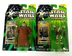 Hasbro Star Wars POTJ Jedi File Boss Nass Sebulba Lot of 2 Action Figures Sealed