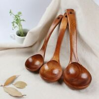 Long Handled Wooden Soup Bamboo Spoons Kitchen Cooking Utensil Tools Rice Spoon,