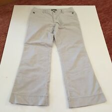 Women's Courdory Pants ~ Eddie Bauer ~ Size 12 ~ Off White ~ Cotton/Polyester