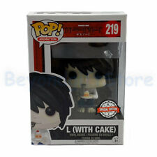 L (With Cake) 219 Funko POP Animation Death Note Vinyl Collectible w Case