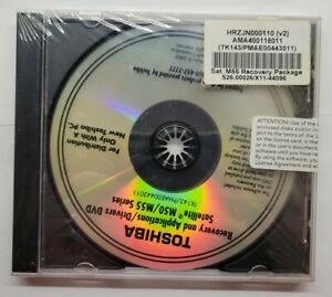 Toshiba Recovery And Applications Drivers DVD Satellite M50/M55