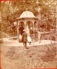 J.W.& J.S.Moulton stereoview Iron Spring Fairmount Park,Philadelphia,PA Pavilion