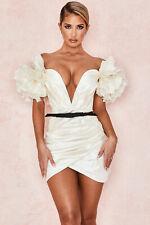 HOUSE OF CB 'Agatha' Ivory Organza Mini Dress XS 6 / 8 SS 20647