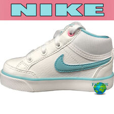 Nike Toddler Size 4C Capri 3 Mid Leather Shoes  599529-104 White/Pink/Blue