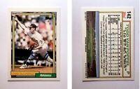 Todd Van Poppel  Signed 1992 Topps #142 Card Oakland Athletics Auto Autograph