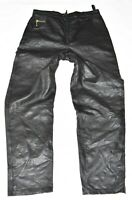 "Black Real Leather PER ME Biker Motorcycle Women's Pants Trousers Size W31"" L30"""
