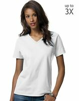 Hanes Relaxed Fit Women's ComfortSoft V-neck T-Shirt 5780