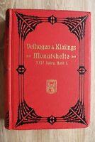 Velhagen & Klasing Monatshefte 24.Jg 1909/10 1.Bd. Kunst Kultur Orte Jugendstil