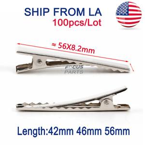 20 40 50 X Silver Crocodile Alligator Clips Teeth Hair Bows Slides 45 56 mm DIY
