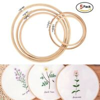 Embroidery Circle Cross Stitch Hoops Bamboo Ring Sewing Frame Art Craft 5pcs/set