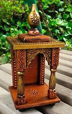 Wooden Temple Mandir Handcrafted Hindu Pooja Ghar Mandapam Worship Wall Art