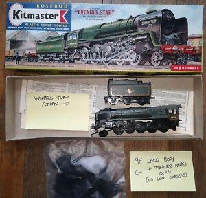Built Rosebud Kitmaster No.22 BR 9F Evening Star + extra parts in original box