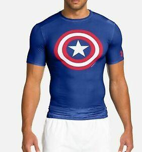 Under Armour UA Men's Alter Ego Captain America Marvel Compression 1244399-402 M