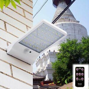 48 LEDs Solar Wall Light Outdoor Street PIR Motion Sensor Garden Yard Light