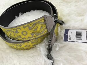 "Rebecca Minkoff Handbag Guitar Shoulder Strap Leather/Embroidery 46"" Length NWT"