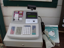 SHARP ELECTRONIC CASH REGISTER MODEL XE-A505 with SCANNER KEYS MANUAL NICE COND