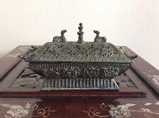Chinese Tibetan Incense Burner / 文銀 / W 17 × D 7 ×  H10.5 [cm] 0.67kg