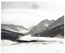1959 Original Photo by TREEN air view & aerial of Canadian Rockies Mountains