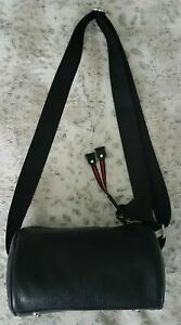 Black Cross Body bag Shoulder Bag womens Ladies quality leather bag UK