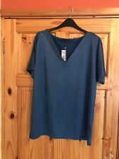 Ladies Shimmering Teal Top By M&S Size 12