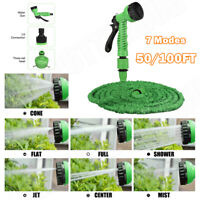 Expandable Garden Hose Pipe 50FT 100FT Spray Gun Watering Gun Plants Car Wash