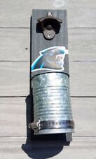 Carolina Panthers Wall mounted bottle cap opener Stained wood & galvanized cup