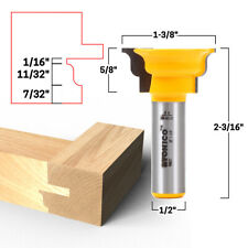 """New listing Extended Tenon Window Sash Router Bit - 1/2"""" Shank - Yonico 18927"""