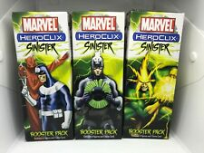 Marvel Heroclix Sinister Booster Brick NEW 3 Pack Lot
