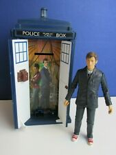 dr doctor who ELECTRONIC TARDIS MONEY BOX inc 10th ACTION FIGURE sounds 64k