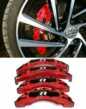 VW SET 4 COVER / COPRI PINZE FRENI ROSSO / NERO RLINE R-LINE -1