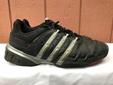 Mens Adidas Barricade Athletic Sneakers Tennis Shoes Black Silver US 10 EUR 44