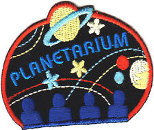 """PLANETARIUM"" w/MOON & STARS-Iron On Embroidered Applique/Astrology, Universe"