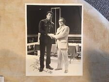 Muhammad Ali Autographed Photgraph Standing In Ring With Clothing On
