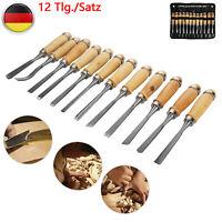 12Stk Schnitzmesser Holzbeitel Set Holzschnitzerei Holzmeissel Hohlbeitel Holz