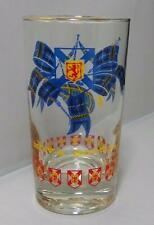 Nova Scotia Canada Drinking Glass Bagpipes Emblem VGUC
