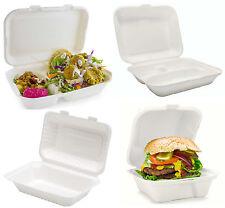 Blanc Boîte de Nourriture fuite/Graisse Preuve Déjeuner Salade Box Traiteur Bio ...