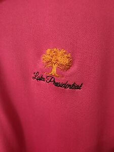 Donald Ross Large L Mens Pink Lake Presidential Short Sleeve Polo Embroidered