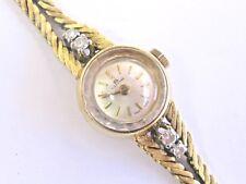 "Bucherer 18Kt Diamond Yellow Gold Round Watch .20Ct 6.5"" ESTATE MINT"