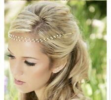 Pearl Chain Browband Hair 1920s Headpiece Headband Grecian Boho Bridal