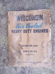 Wisconsin Heavy Duty Engine 4 Cylinder Model VE4 VF4 Manual MORE IN STORE L