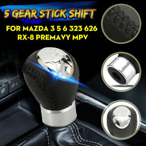 "Shift Boot For Mazda 6 2008-2013 Leather /""M6/"" Blue Embroidery"