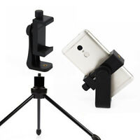 Cell Phone Clip Bracket Smartphone Holder Tripod Mount Adapter for iPhone Huawei