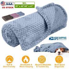 Dog Blanket for Medium Large Dogs Pet Soft Coral Velvet Warm Bed Mat Sofa Pad