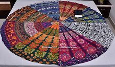 Indian Patchwork Mandala Throw Round Hippie Tapestry Wall Hanging Yoga Mat Boho