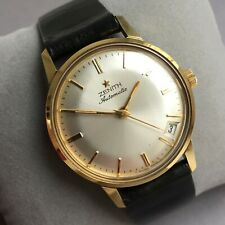 NOS Vintage Zenith Automatic Armbanduhr swiss made dress watch date Cal. 2542PC
