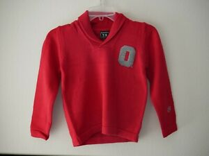 Alma Mater Boys Youth NCAA Ohio State Buckeyes Shawl Sweater Sz S NWT