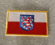 AUFNÄHER PATCH 0963 AUFBÜGLER FAHNE FLAGGE THÜRINGEN mit WAPPEN SAMMLER  TH 2