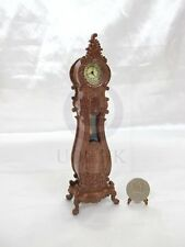 Miniature 1:12Scale Luxury Classical French Grandfather Clock-Finished in walnut